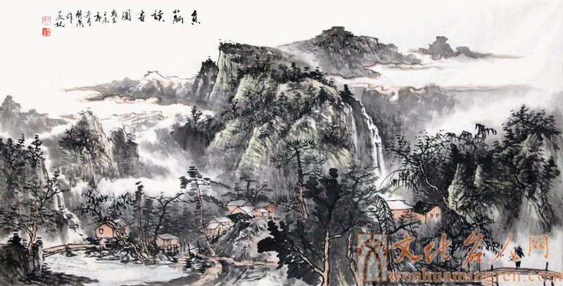 画家王朋泉山水画欣赏